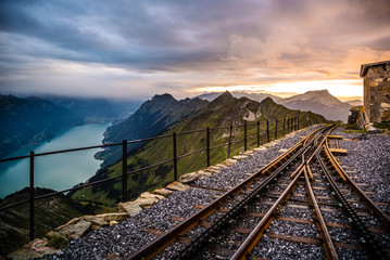 Endstation Zahnradbahn Brienzer Rothorn, Berner Oberland, Schweiz