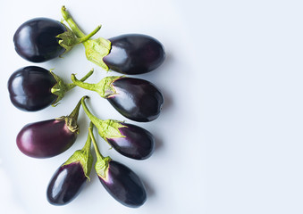 Eggplant on a white table