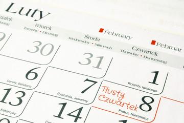 Tłusty czwartek - 8 lutego