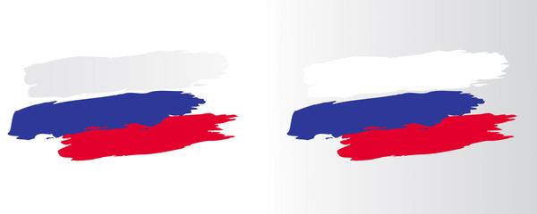 DRAPEAU RUSSE trait pinceau