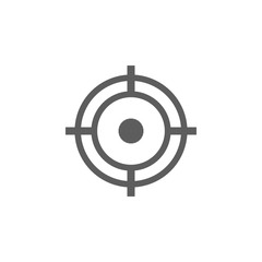 aim icon. Elements of gun aim icon. Premium quality graphic design icon. Signs, symbols collection icon for websites, web design, mobile app