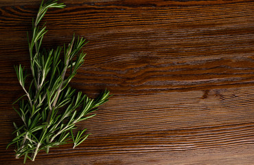 organic green rosemary on table