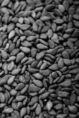 textured background of dark sesame