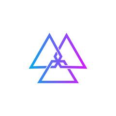 Triangle logo. Vector.