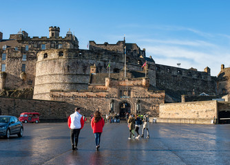 Esplanade at Edinburgh Castle. Fototapete