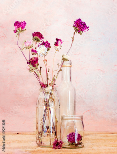 Dried Flowers Inside Glass Vase Stock Photo And Royalty Free Images