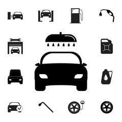 car wash icon. Set of car repair icons. Signs, outline eco collection, simple icons for websites, web design, mobile app, info graphics