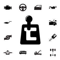 speed shifter icon. Set of car repair icons. Signs, outline eco collection, simple icons for websites, web design, mobile app, info graphics