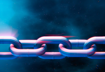 Low poly chain link rings 3D