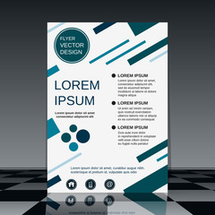 Professional business flyer vector design template