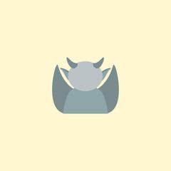 Gargoyle icon flat element. Vector illustration of gargoyle icon flat isolated on clean background for your web mobile app logo design.