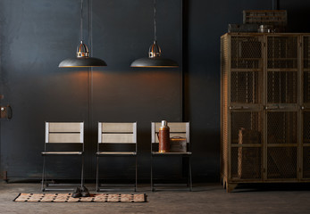 Chairs in industrial setting