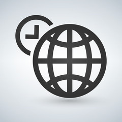 World time icon vector illustration isolated on white.