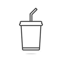Soda drink line icon vector