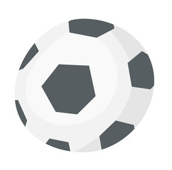 Soccer ball vector cartoon illustration isolated on white background.