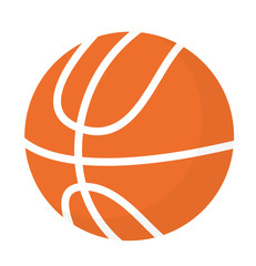 Basketball ball vector cartoon illustration isolated on white background.