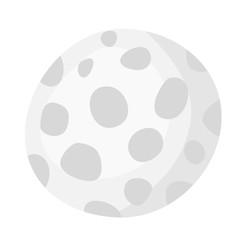 Golf ball vector cartoon illustration isolated on white background.
