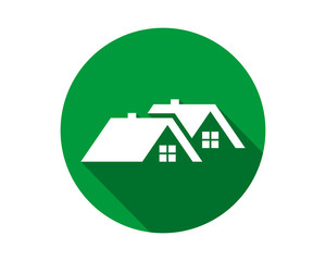 green circle house housing home residence residential residency real estate image vector icon