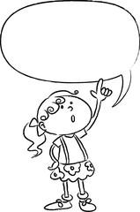 cartoon kids with blank border