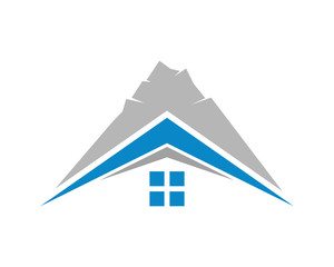 summit house housing home residence residential residency real estate image vector icon 3