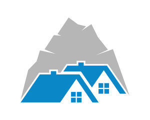 summit house housing home residence residential residency real estate image vector icon 2