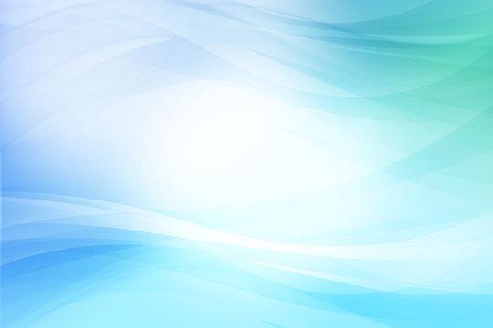ブルーのウェーブ 抽象的な背景