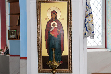 Icons inside the Orthodox Church