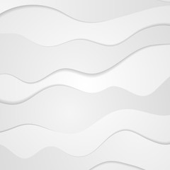 Abstract grey white corporate waves background