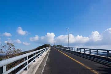 坂道 徳島県鳴門市県道183号線 四方見展望台付近