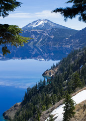 Reflections on the edge of Crater Lake