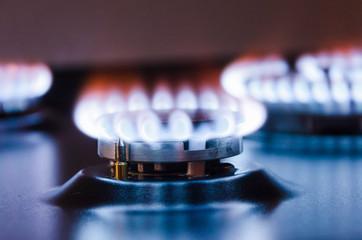 Burning gas burner.