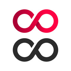 Infinite symbol logo icon