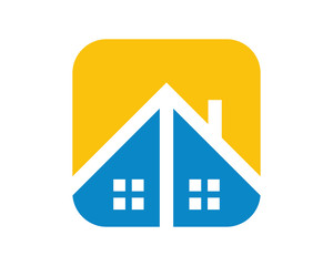 roof housing home residence residential residency real estate image vector icon 3