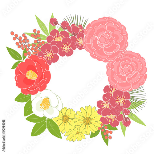 お正月の花のリースfotoliacom の ストック写真とロイヤリティフリーの