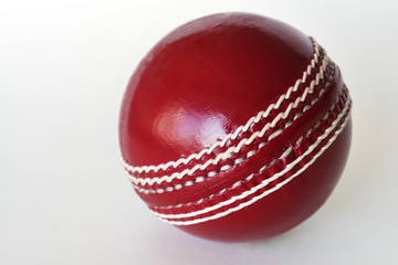 Cricket ball isolated