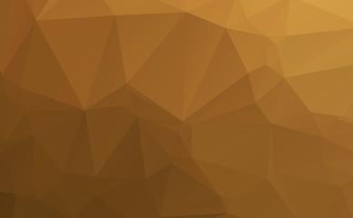 Dark brown polygonal illustration texture background