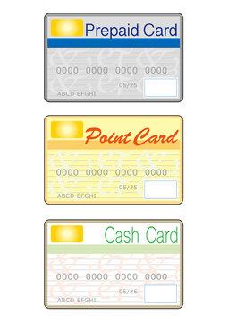 プリペイドカード・ポイントカード・キャッシュカード