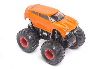 Orange Toy car Bigfoot
