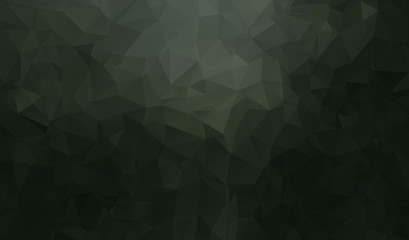 Vector abstract triangulated pale colorless background. Horizontal dynamic grey pattern. Geometric texture. Modern. Triangles. White, grey, black colors. Dark low poly fond.