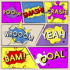 Basic RGB cartoon word art