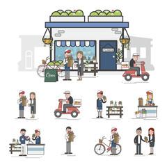 Illustration of flower shop