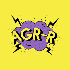 AGR-R cartoon word isolated on background