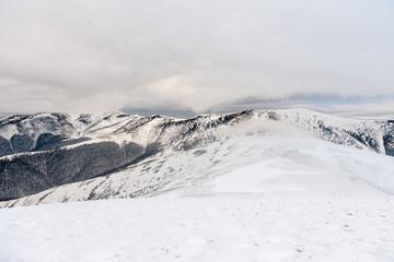 Wall Mural - Winter mountain landscape