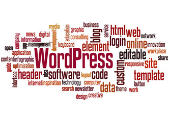 WordPress word cloud concept 3