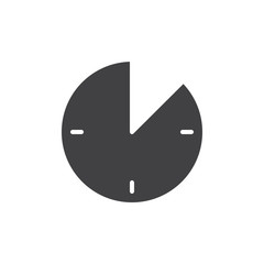 10 minute time icon vector, filled flat sign, solid pictogram isolated on white. Timer clock symbol, logo illustration.