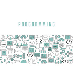 Coding and programming background.