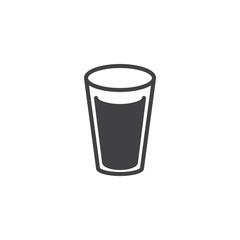 Milk glass icon vector, filled flat sign, solid pictogram isolated on white. Glass of water symbol, logo illustration.