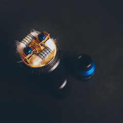 the coils are installed in the atomizer for mechanical mod