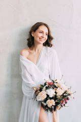 Easy spring morning of the bride in the Scandinavian style in the Studio with stylish decor and European-style needles