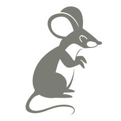 mouse  cartoon vector illustration flat style   profile